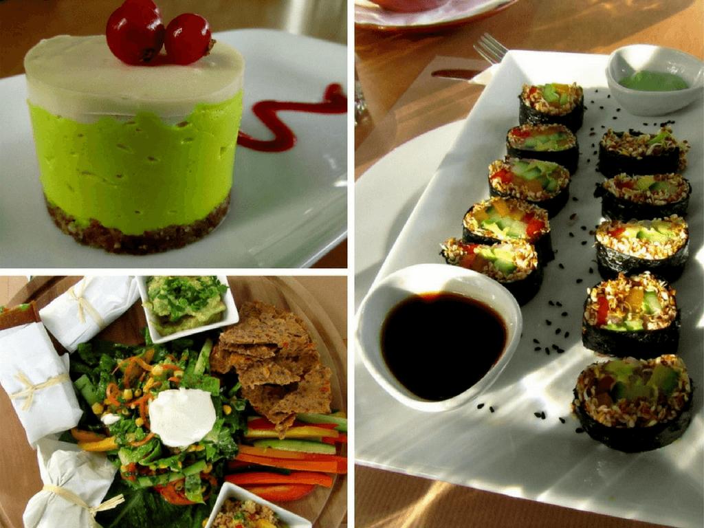 Rawfood Restaurant Yi, Athens, Desserts, Burritos, Sushi