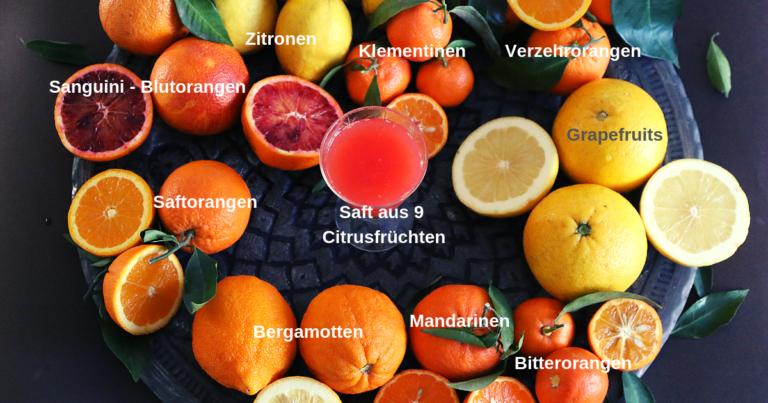 Nickis Zitrus-Energiebombe. Fruchtsaft aus 9 verschiedenen Zitrusfrüchten