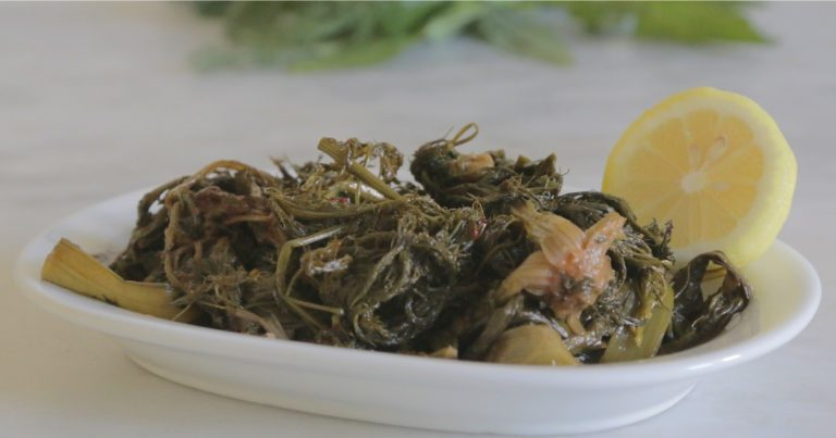 Tsigarelli (τσιγαρέλλι) - pikantes Wildgemüse aus Korfu