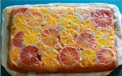 Upside down - (Blut-)Orangen-Mandarinen-Kuchen